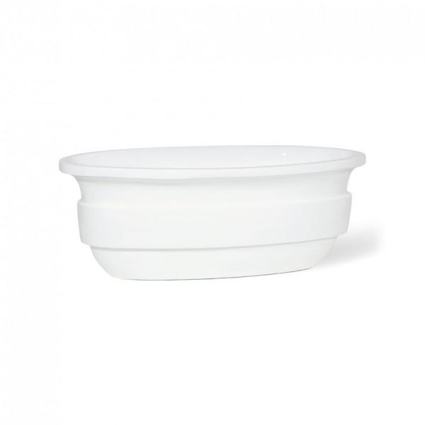 Pool Tischvasen | Hochglanz Weiß