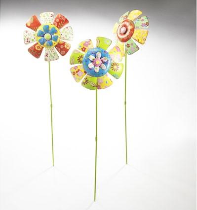 Lollip 3er Set | Deko-Blume auf Stab