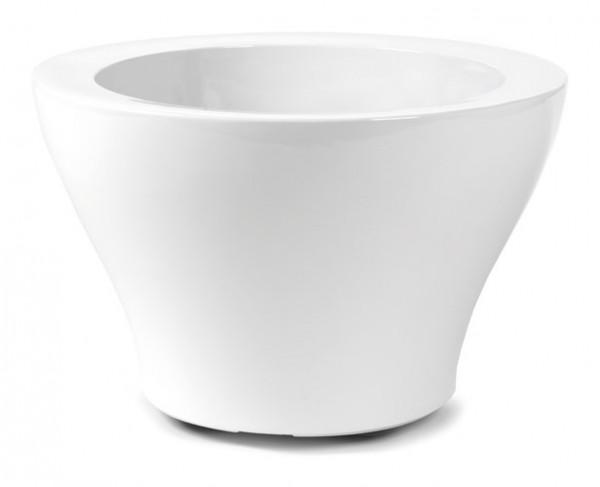 Sunset Cup Pflanzkübel | Hochglanz Weiß