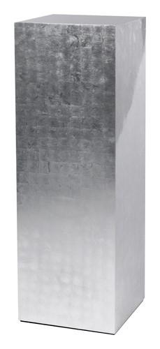 Kunststoff Dekosäule Silber   Höhe 120 cm