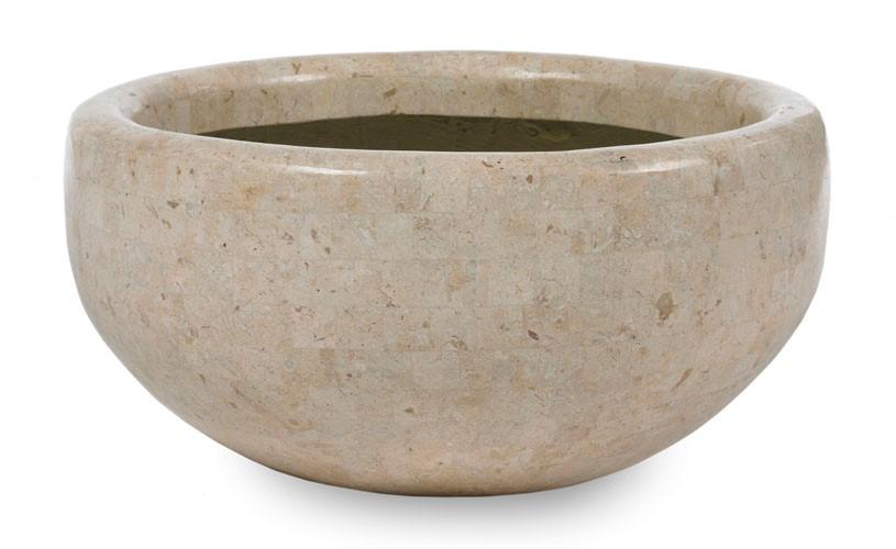 Diaz Bowl | Pflanzschale Natursteinoptik