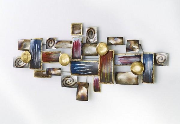 Mosaiku Wandbild aus Metall