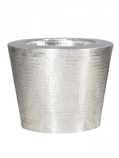 Elegant   Aluminium Pflanzvase gehämmert