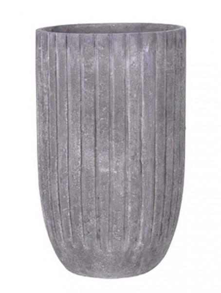 Polystone Lourdee Cylinder Pflanzvase lavagrey