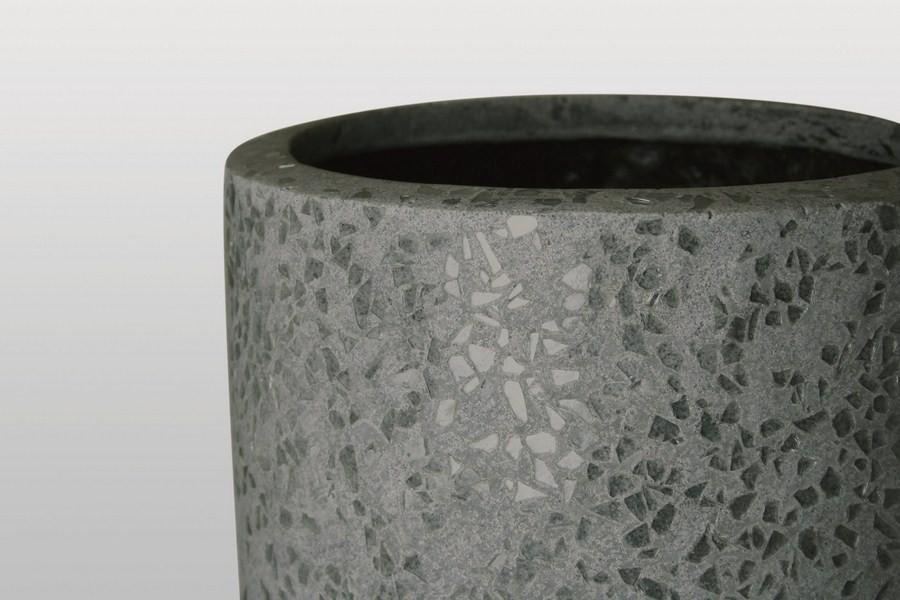 Glitter grau | Polystone Pflanzvase