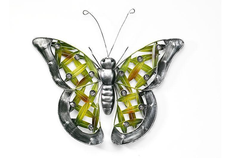 Schmetterling aus metall mit acryl perlen metall for Dekorationsartikel bestellen