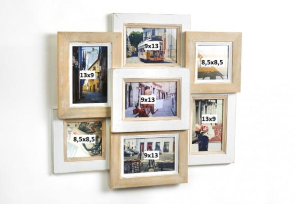 Nature Collage - Holz Bilderrahmen für 7 Bilder