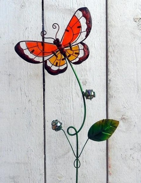 Rotling | Schmetterling Gartenstecker