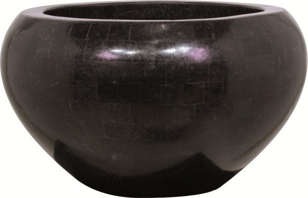 Pflanzschale Geo Crown black polished