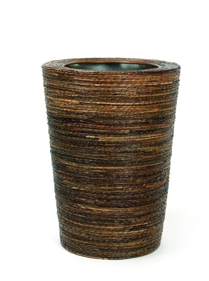 Bananaleaf Conical | Pflanzvase aus handgeflochtenen Faserbananen