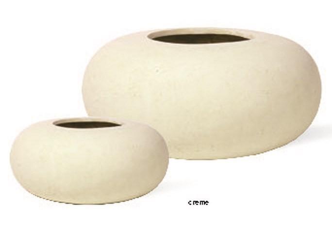 Donut creme | Polystone Pflanzgefäß