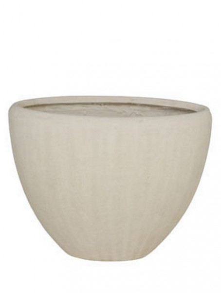 Polystone Oval Pflanzvase Natural