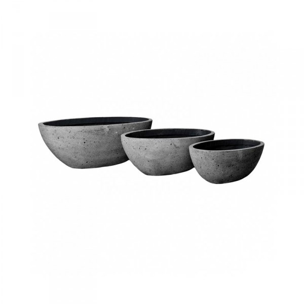 Drax Pflanzkübel Laterite Grey Collection 3er Set