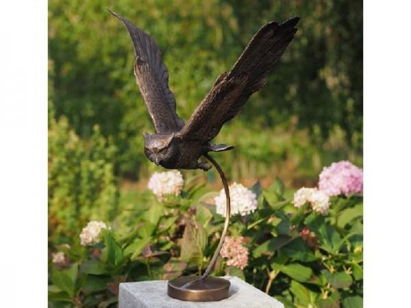 Fliegende Eule Olwa - Bronzefigur
