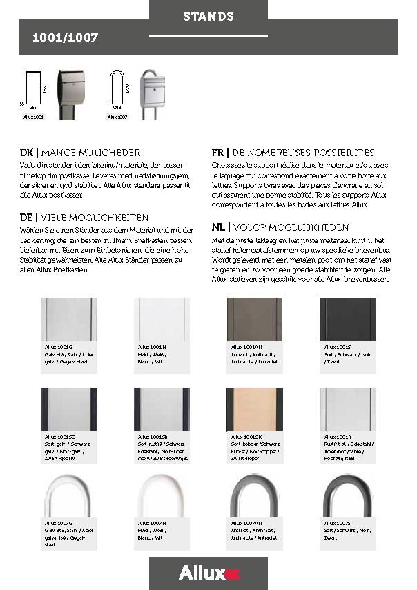 Allux-Stands-1001-1007-Design-Serie-Briefkasten-Staender