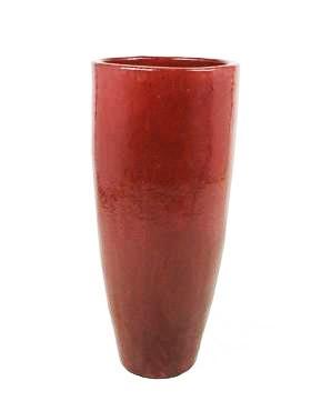 Oxblood Red Elegant Keramik Pflanzvase