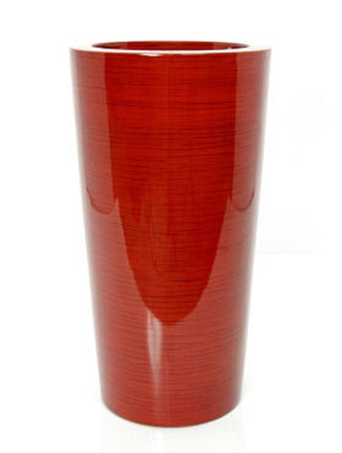 Krappa Bamboo Pflanzgefäß | Hochglanz Rot