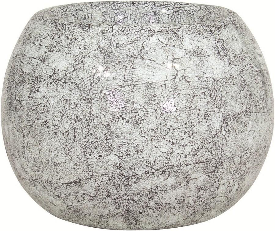 Disco aqua | Glasmosaik Pflanzgefäß