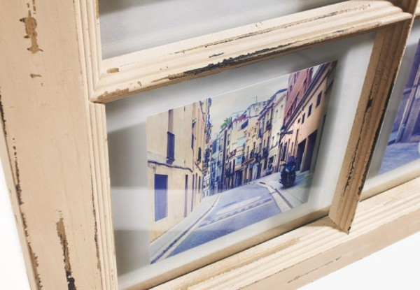 Window Holz Bilderrahmen für 6 Bilder