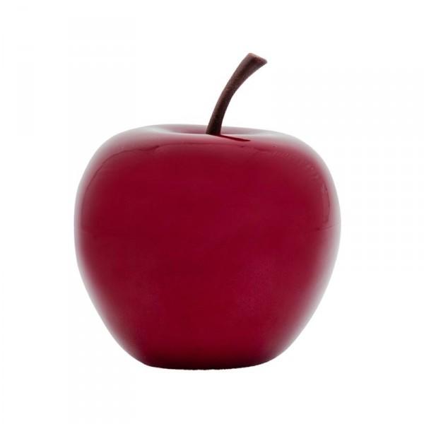 Apfel rot - apple Fruit ein Kunstobjekt aus Fiberglas und Steinpulver
