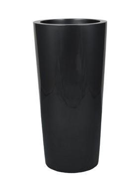 Krappa Bamboo Pflanzgefäß | Hochglanz Grau