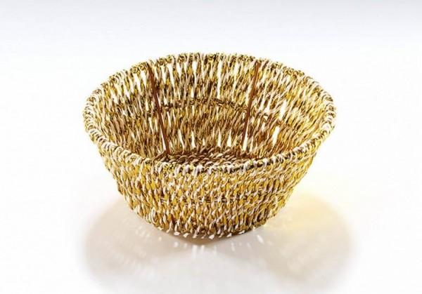 Goldene Dekoschale rund