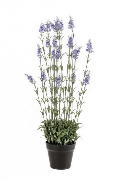 Lavendelbusch 80cm - Kunstpflanze im Plastiktopf