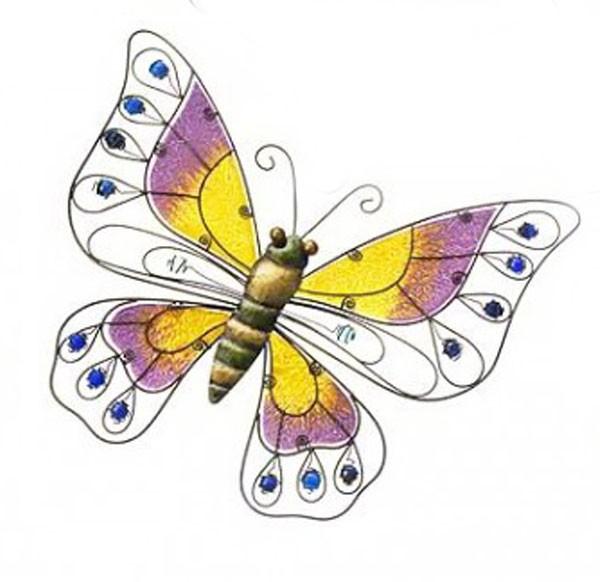 Schmetterling aus Metall und Glas