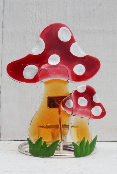 Roter Pilz Teelicht
