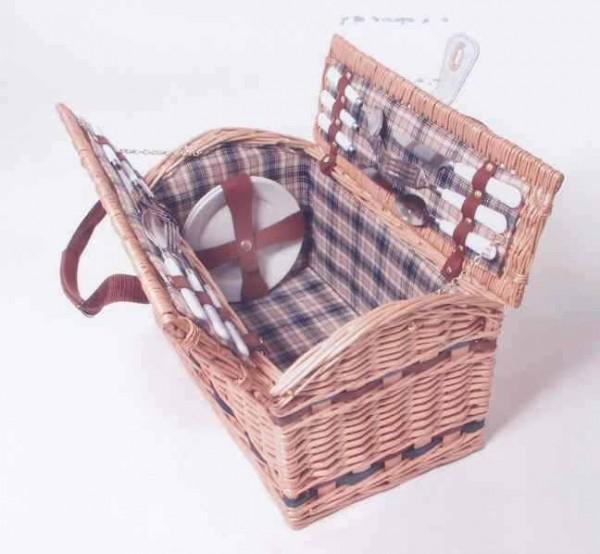 Picknickkoffer Landhaus für 4 Personen aus Weide