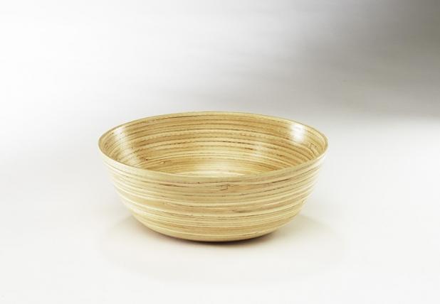 dekoschale aus bambus natur innen und au en grau terrapalme heim und gartenshop. Black Bedroom Furniture Sets. Home Design Ideas