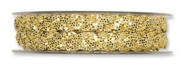 Glitterband gold 8 mm - 5 m