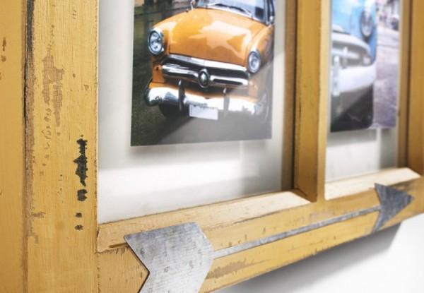 Window Holz Bilderrahmen für 4 Bilder