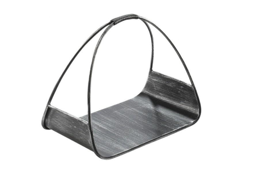Schwarze Holztrage Aus Metall Terrapalme Heim Und
