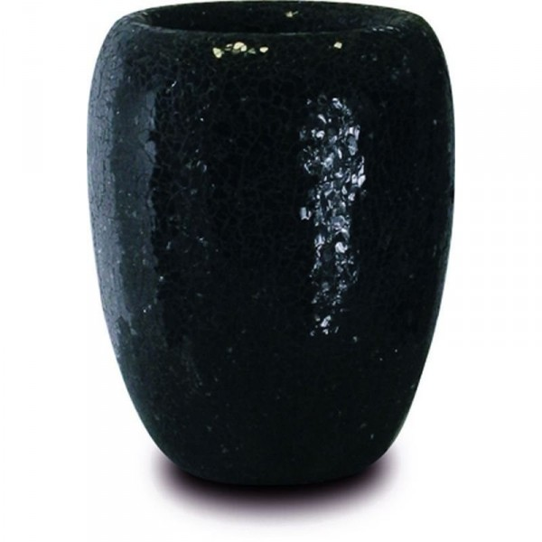 One Black | Glasmosaik Pflanzvase