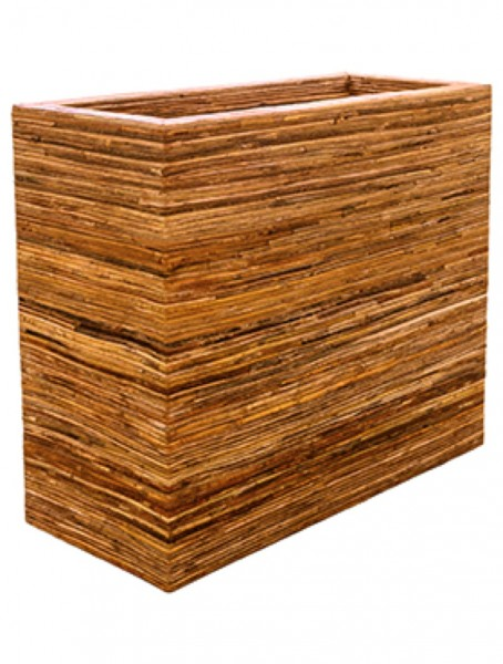 Divider Bamboo bark Rattan Pflanzkasten