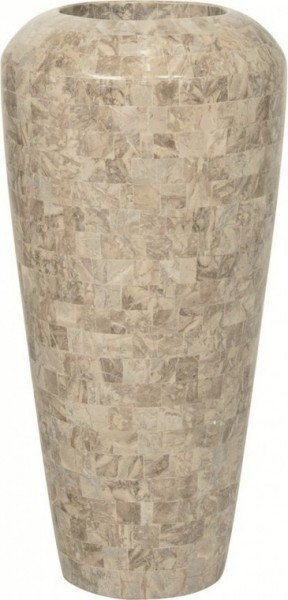Pflanzvase Geo cappuccino marble