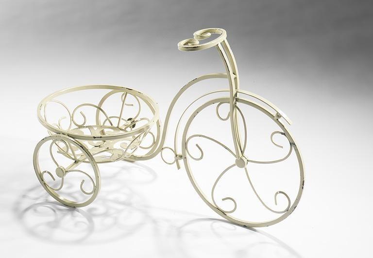 Metall deko fahrrad f r 1 pflanzk bel metall dekoartikel for Dekoartikel metall