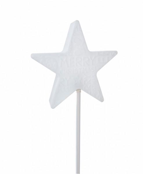 Star Merry X-Mas On Stick | Stern Außenleuchte auf Stab