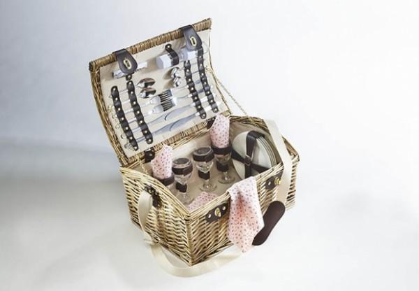 Landleben Picknickkoffer 4 Personen - Weide beige