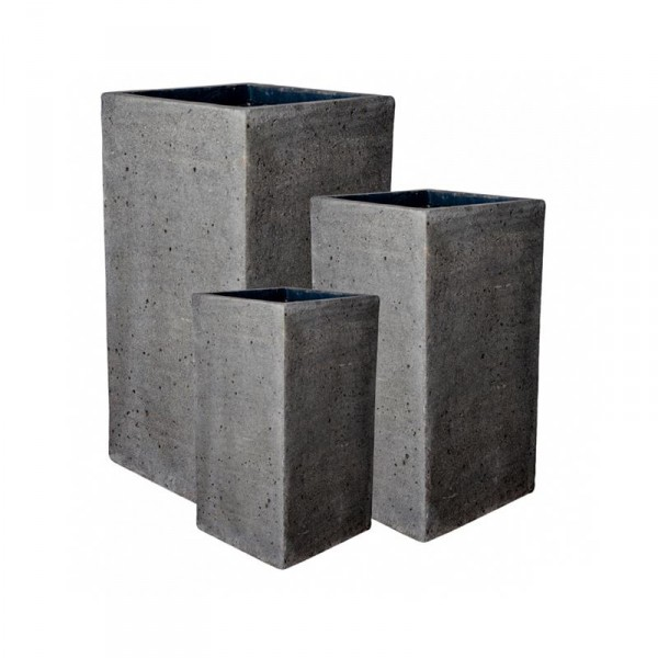 Bouvy Pflanzkasten Laterite Grey Collection 3er Set