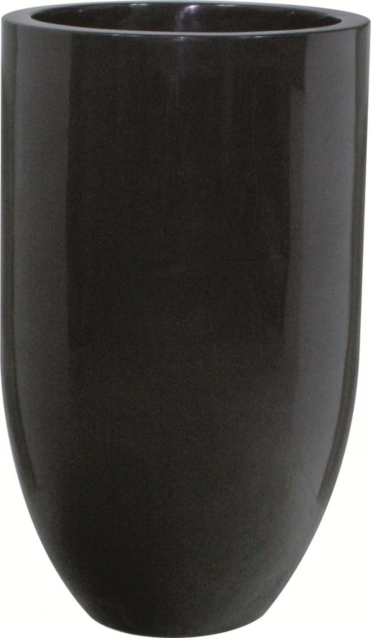 Pandora onyx black | Pflanzvase schwaz lackiert