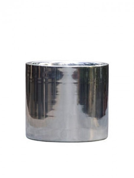 Cylinder l Aluminium Pflanzkübel Poliert
