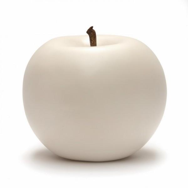 Keramik Apfel weiß   Cores da Terra