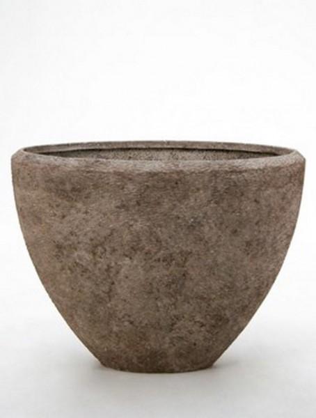 Polystone Rock Oval Pflanzvase