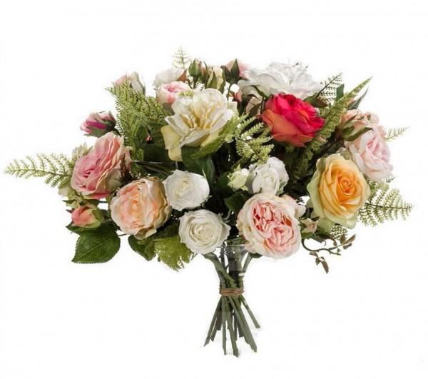 Romantic Roses - Großer Kunstblumenstrauß