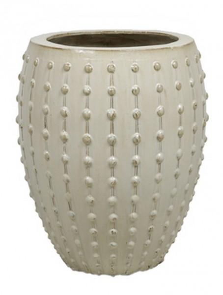 Laos Creme | Keramik Pflanzgefäß