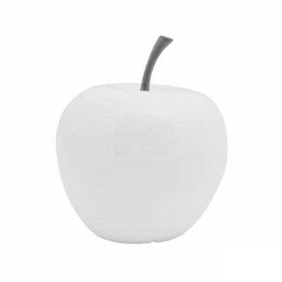 Apfel weiß - apple fruit ein Kunstobjekt aus Fiberglas und Steinpulver