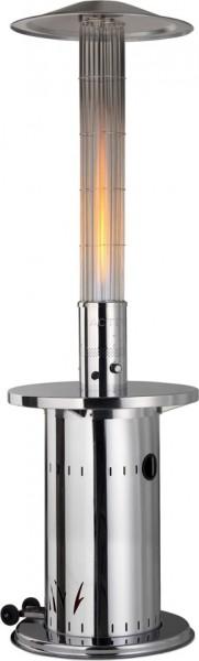 Eco Edelstahl Terrassenheizstrahler - Reflektor Gas Flammenheizer
