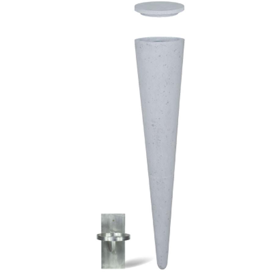 Wall Cone grey | Polystone Deckenvase